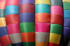 Hot Air Balloon Design. The canvas of an inflated, hot air balloon makes for a nice colorful background Royalty Free Stock Images
