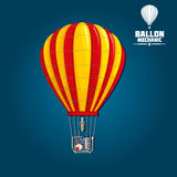 Hot air balloon with detailed elements Royalty Free Stock Photo