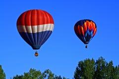 Hot Air Balloon Duet #4 Stock Photo