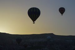 Hot air balloon,early in the morning Royalty Free Stock Photos