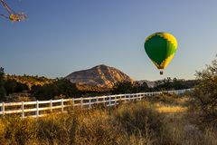 Hot Air Balloon In Early Morning Stock Photography