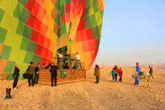 Hot air balloon, Egypt sunrise Royalty Free Stock Photo
