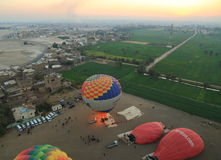 Hot air balloon in Egypt Royalty Free Stock Image