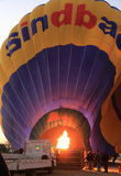Hot air balloon in Egypt Stock Photo