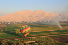 Hot air balloon in Egypt. From where you can have an aerial view of Luxor royalty free stock image