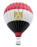 Hot Air Balloon with Egyptian Flag (clipping path included) Royalty Free Stock Photos