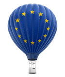 Hot Air Balloon with European union Flag Stock Photography