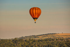 Hot-air balloon. At the evening sun Royalty Free Stock Photography