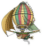 Hot air balloon. Fantastic, fairy tale,  on white Stock Image