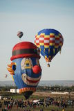 Hot Air Balloon Festival. Hot air balloon annual festival and competition in Albuquerque, New Mexico Royalty Free Stock Photos