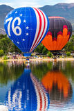 Hot air balloon festival - Annual Labor Day Liftoff in Colorado Springs Stock Photography