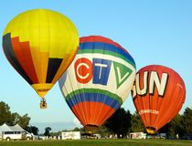 Hot Air Balloon Festival In Gatineau Royalty Free Stock Image