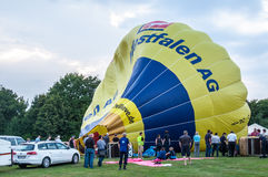 Hot air balloon festival in Muenster, Germany Stock Photography