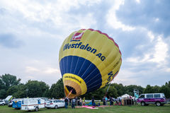 Hot air balloon festival in Muenster, Germany Royalty Free Stock Image
