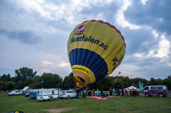 Hot air balloon festival in Muenster, Germany Stock Image