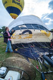 Hot air balloon festival in Muenster, Germany Stock Photos
