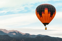 Hot air balloon festival. Hot air balloon taken at the colorado labor day lift off in colorado springs - hot air balloon festival event - orange and black Stock Images