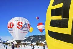 Hot Air Balloon Festival in Tannheimer Tal, Europe Stock Photo