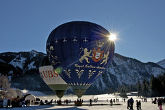 Hot Air Balloon Festival in Tannheimer Tal, Europe royalty free stock photos