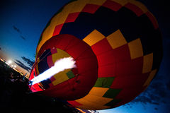 Hot Air Balloon Filling with Hot Air Stock Photography