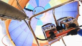 Hot air balloon fire burner Stock Photo