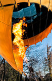 Hot air balloon with fire Royalty Free Stock Photography