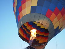 Hot air balloon with fire Royalty Free Stock Images
