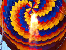 Hot air balloon with fire Royalty Free Stock Photos
