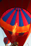 Hot air balloon firing Royalty Free Stock Photos