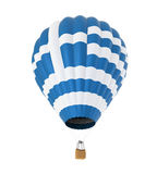 Hot Air Balloon with Flag of Greece Royalty Free Stock Image