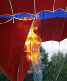 Hot air balloon flame closeup Royalty Free Stock Photos