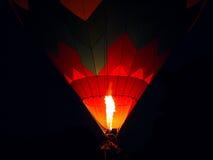 Hot Air Balloon Flame At Night Stock Photos