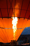 Hot Air Balloon with Flames Stock Photo