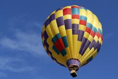 Hot air balloon flight royalty free stock photography