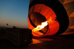Hot air balloon flight in Cappadocia, Turkey. Stock Photos
