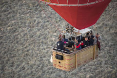 Hot air balloon flight in Cappadocia, Turkey. Royalty Free Stock Photo