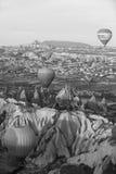 Hot air balloon flight in Cappadocia, Turkey. Royalty Free Stock Photos