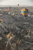Hot air balloon flight in Cappadocia, Turkey. Royalty Free Stock Photography