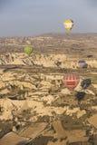 Hot air balloon flight in Cappadocia, Turkey. Stock Images