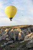 Hot air balloon flight in Cappadocia, Turkey. Royalty Free Stock Images