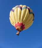 Hot air balloon in flight Stock Image