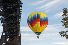 Hot Air Balloon In Flight At Letchworth State Park Royalty Free Stock Photo