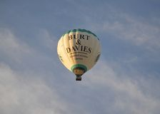 Hot air balloon flight over Melbourne Royalty Free Stock Photography