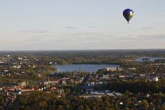 Hot air balloon flight Stock Images