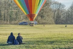 Hot air balloon flights royalty free stock photos