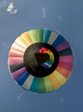 Hot air balloon floating directly overhead Royalty Free Stock Photo