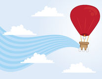 Hot Air Balloon Flowing Royalty Free Stock Photography