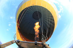 Hot air balloon fly Stock Photo