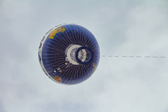 Hot air balloon fly in the sky of Berlin city Stock Image