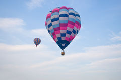Hot Air Balloon Flying. A photo of two hot air balloons in flight Royalty Free Stock Images